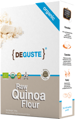Organic and conventional quinoa flour