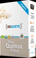 Organic and conventional quinoa flour