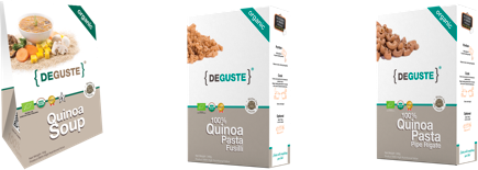 Organic and conventional quinoa Pasta