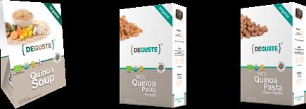 Organic and conventional quinoa Pasta