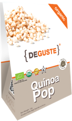 Organic and conventional quinoa pop