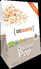 Organic and conventional quinoa pop